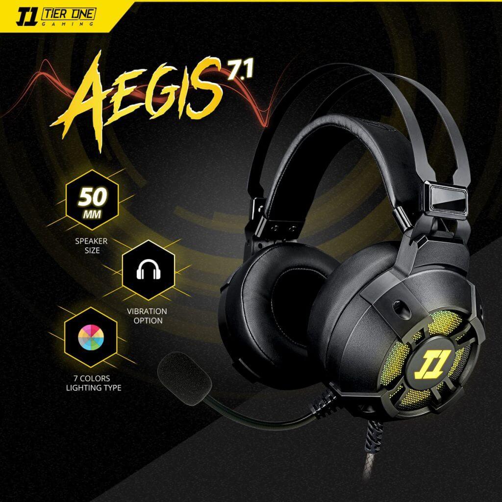 Audífonos 7.1 T1 AEGIS RGB