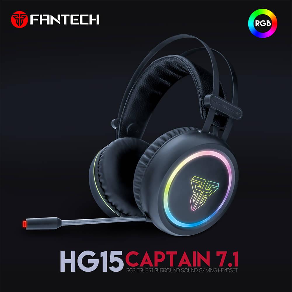 Headset 7.1 Gaming RGB Fantech HG15
