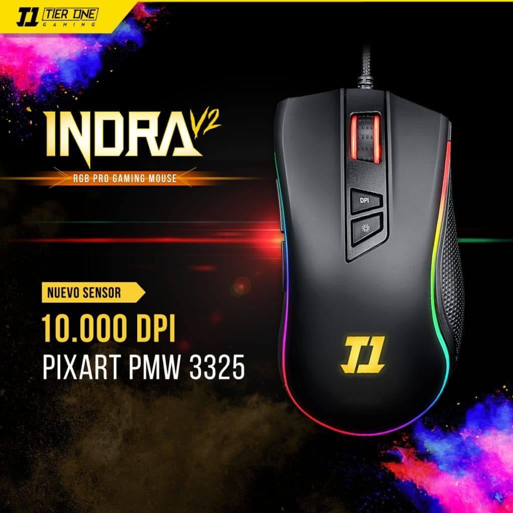 Mouse Gamer Indra V2 RGB 10.000 DPI