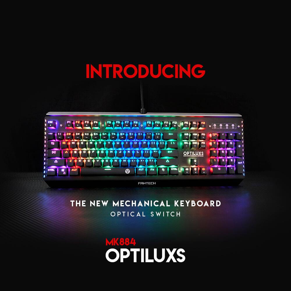 Teclado óptico Optilux Fantech