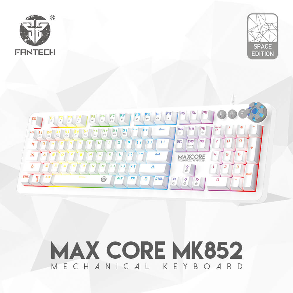 Teclado Gamer Max Core Blanco configurable con macros