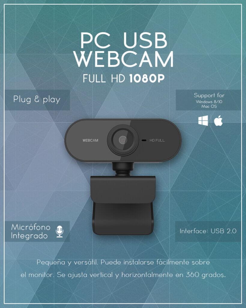 cámara web 1080p full hd con micrófono venta chile