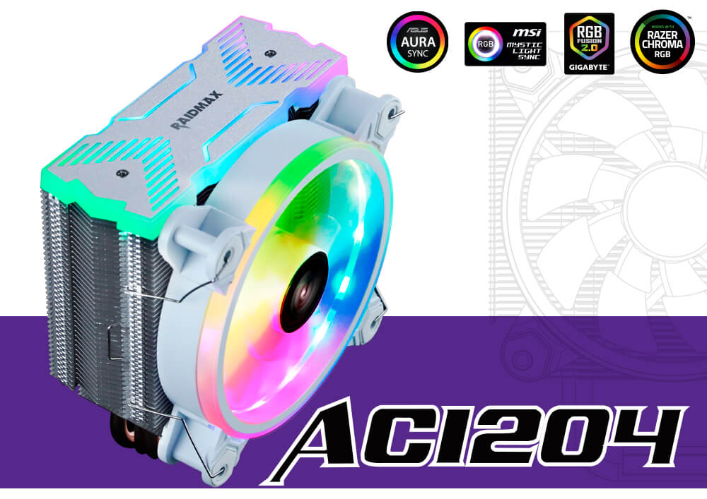 cooler rgb raidmax ac1204