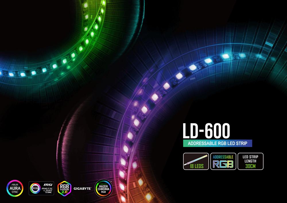 Tiras led RGB Raidmax con sincronización de luces a placa madre asus, msi, gygabite