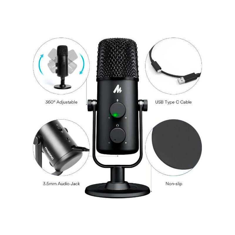 Micrófono de alta calidad de sonido para teletrabajo y llamadas digitales