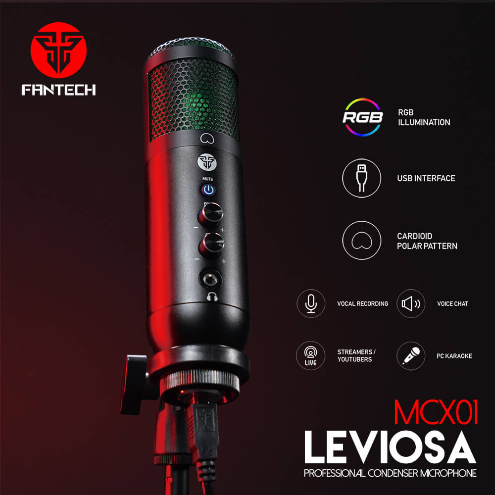Micrófono Leviosa de Fantech specs